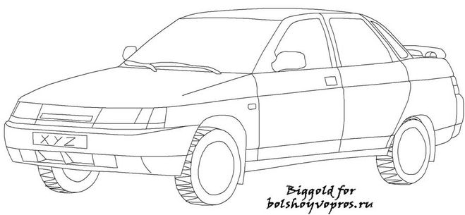 Как видите рисовать автомобили