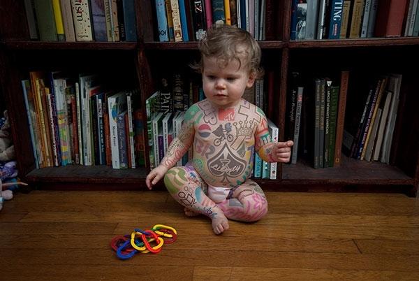 Дети и татуировки (фото) татуировки 28