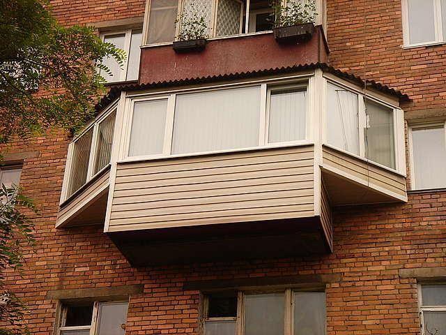 Выносной балкон в азове. - остекление - каталог статей - бал.