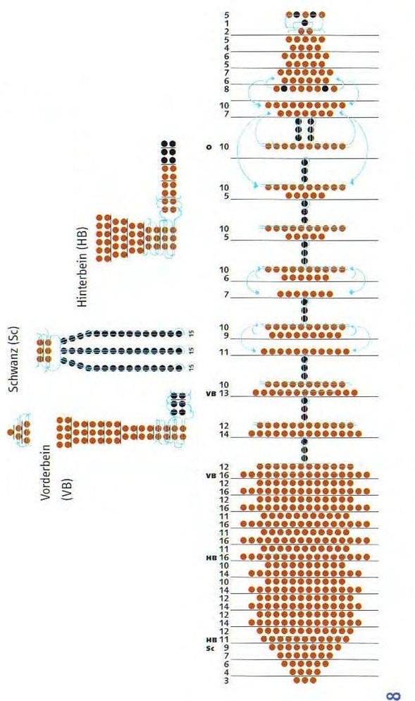 Схема плетения из бисера
