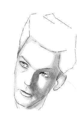 Как нарисовать лицо мужчины