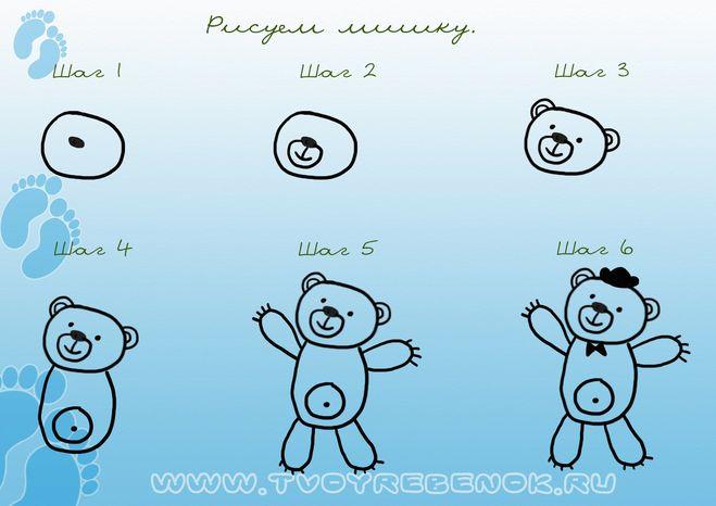 ... того как можно рисовать мишек: www.bolshoyvopros.ru/questions/195064-kak-narisovat-medvedja-mishku...