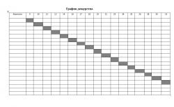 бланк графика дежурств на месяц скачать бесплатно
