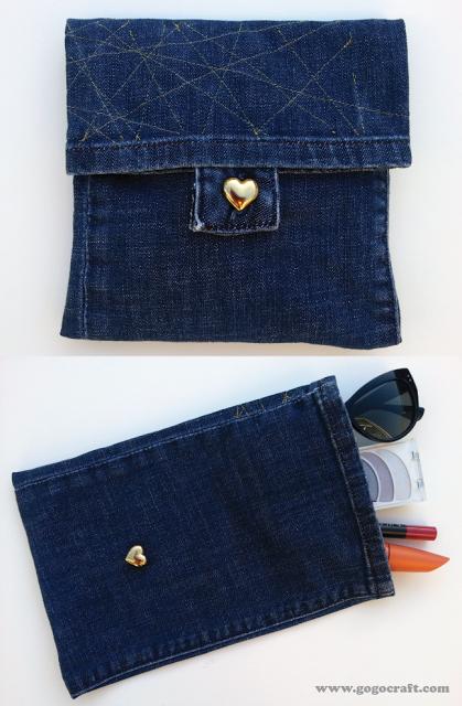 Как сделать клатч из старых джинсов своими руками 49