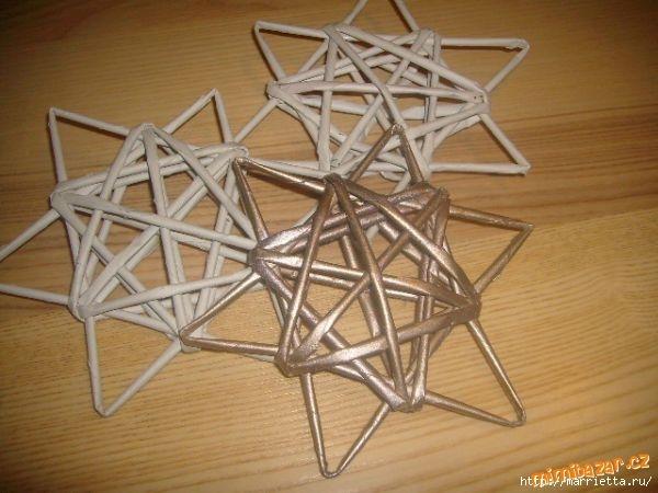 Как с бисера сделать звезду