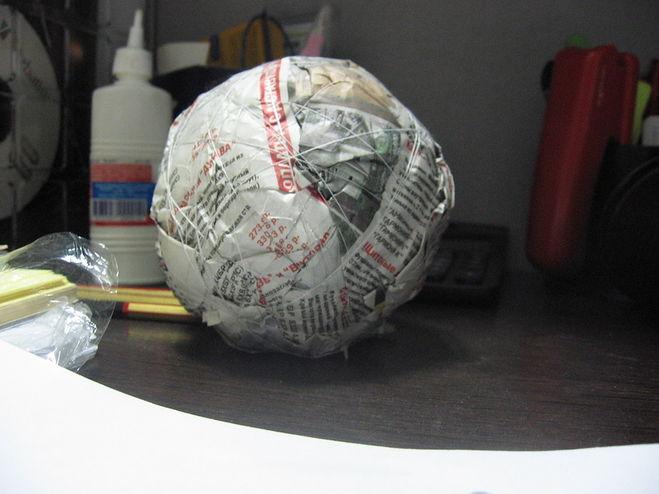 Как сделать основу шар из бумаги своими руками