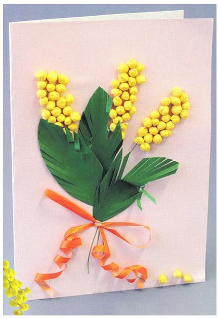 Открытка цветы из бумаги своими руками 180