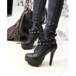Купить женские ботильоны на шнуровке в интернет