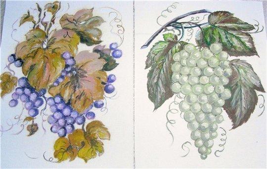 Нарисовать поэтапно на стене виноградная лоза