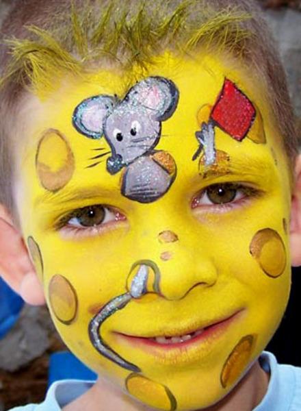 Как на лице нарисовать ( мышь )? смотреть онлайн видео от