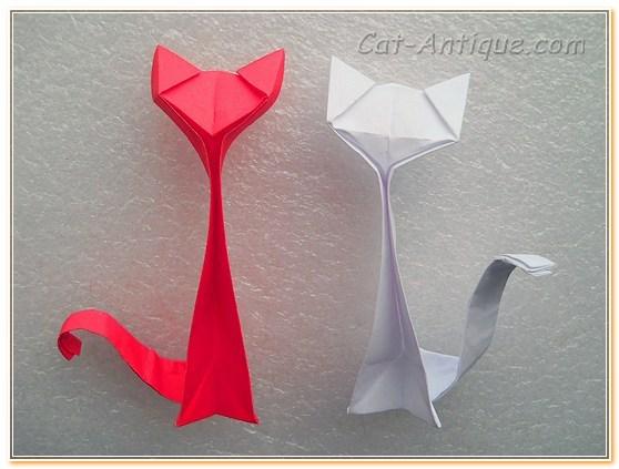 Сделать кошку из бумаги своими руками видео