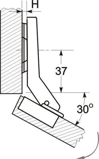 Схема расположения петли GTV-30g.