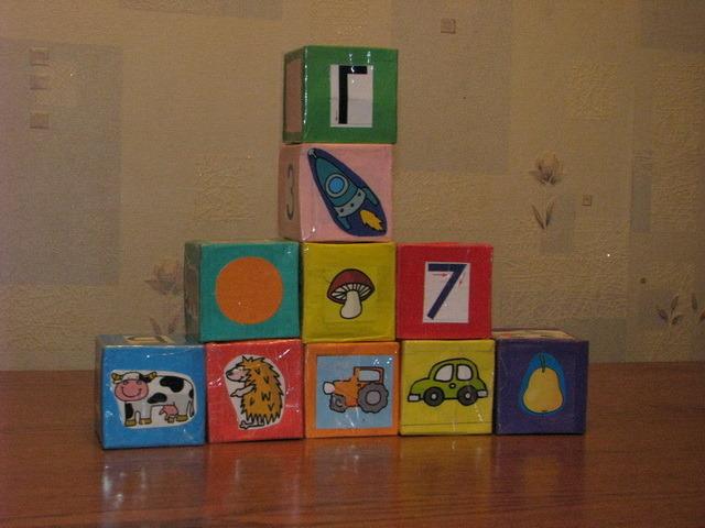 Как сшить кубики руками 1