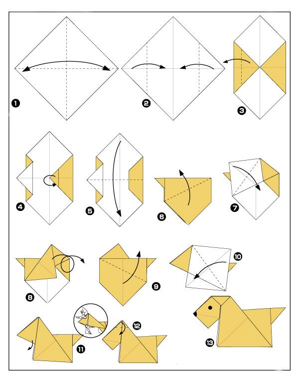 Как сделать оригами для начинающих схемы 719