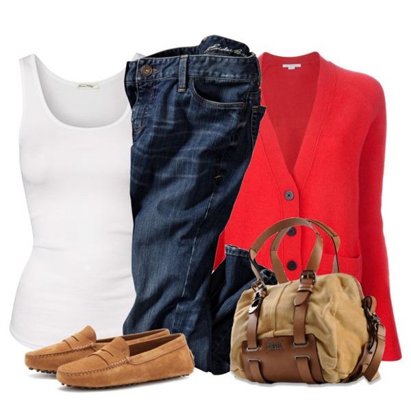 С чем носить коричневые мокасины женские