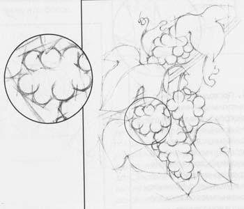 нарисовать виноград