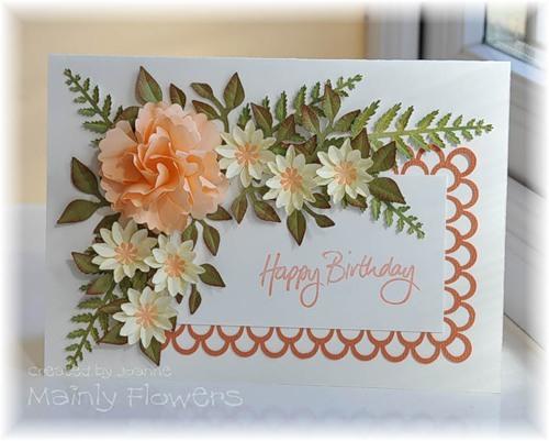 Цветы для открытки с днем рождения своими руками