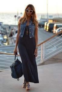 Длинное платье с жилеткой фото