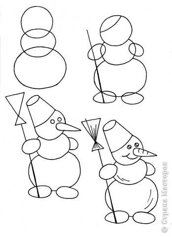 Как рисовать новый год картинки