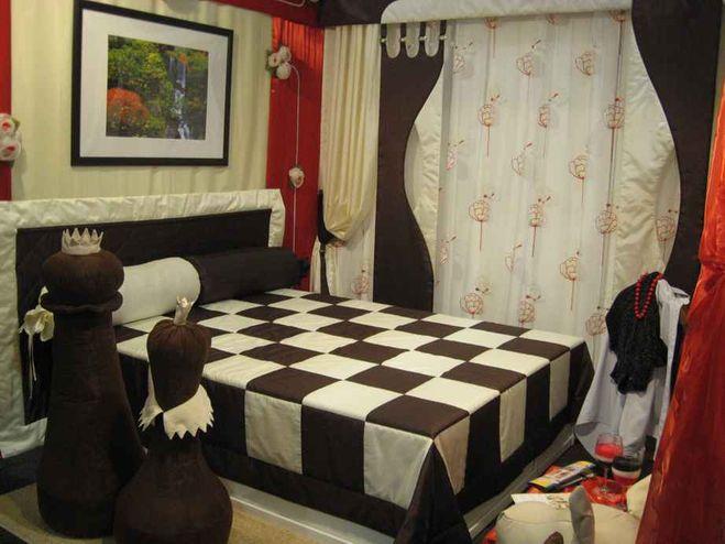 Дизайн шахматной комнаты