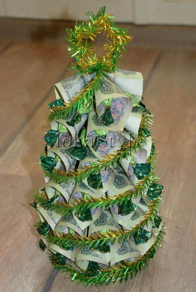 Мастер класс как сделать елку из конфет