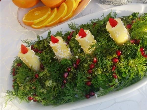 Украшения салатов на новый год в виде змеи