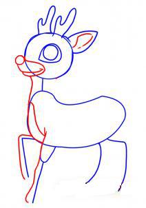 как рисовать оленя 3