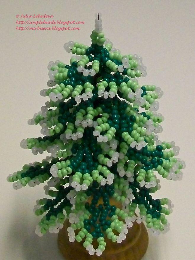 для елки делаем из бисера.