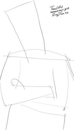 Как нарисовать повара карандашом поэтапно