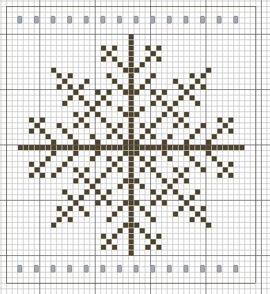 Схемы вышивок снежинка