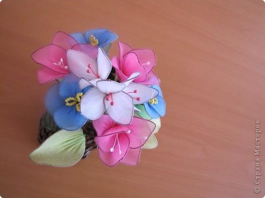 Как сделать цветок из капрона своими руками фото 609