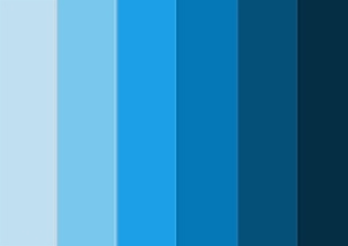 оттенки голубого и синего