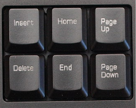 Где находится клавиша insert на клавиатуре
