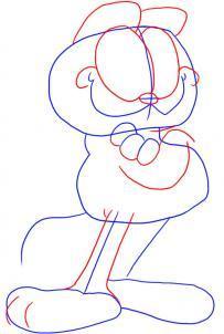 Как нарисовать кота Гарфилда карандашом поэтапно?