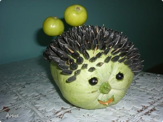 Ежик из овощей