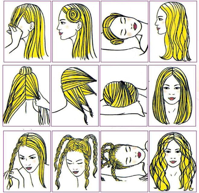 Прическа на длинные волосы на вечер своими руками