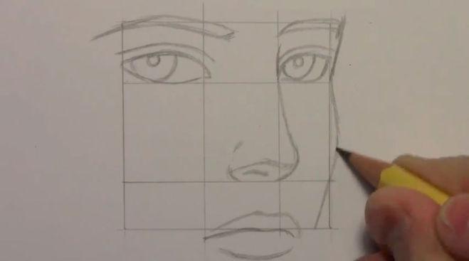 Как рисовать лицо любви