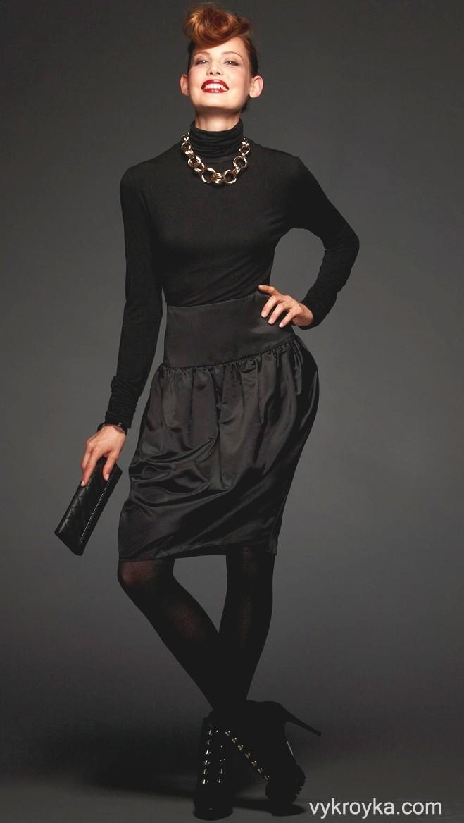 Как сшить юбку баллон