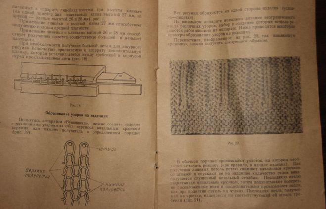 Инструкция по вязанию машина буковинка