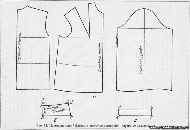 Выкройки блузок с коротким рукавом для начинающих