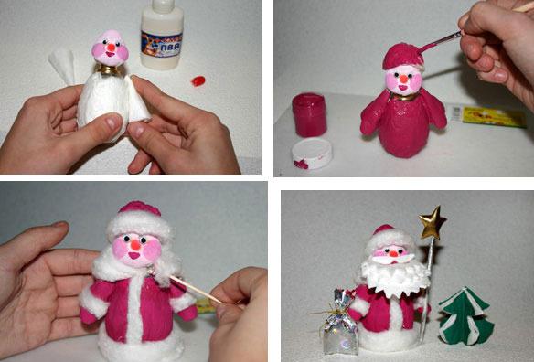 Дед мороз легко и просто своими руками 28