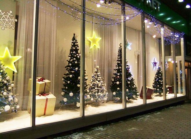 Как оригинально украсить магазин (торговый зал) к Новому году 2014?