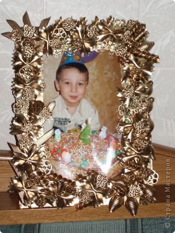 Рамки из макарон своими руками фото