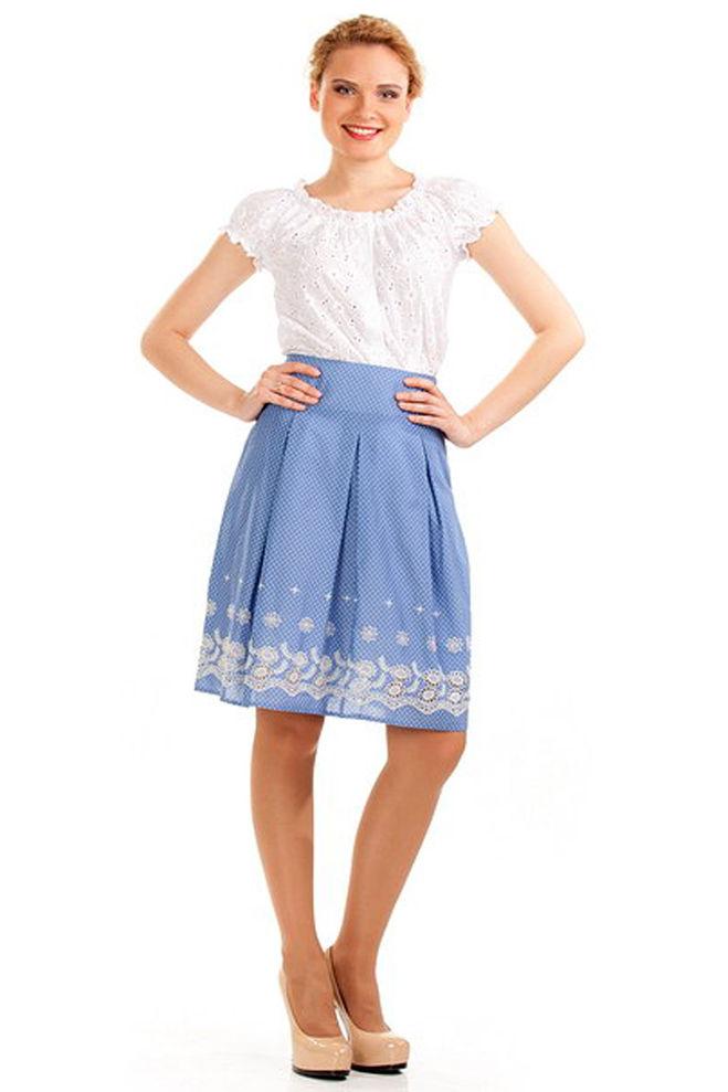 голубая юбка