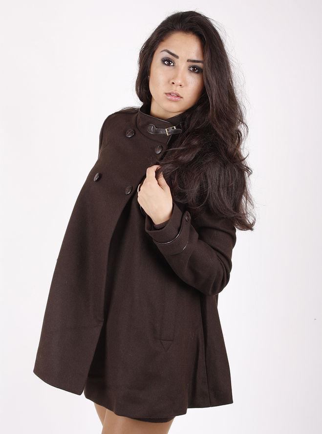 Пальто с чем носить коричневое пальто