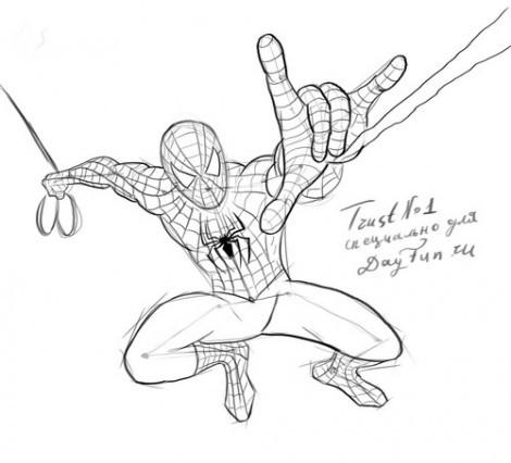 """как нарисовать человека паука карандашом  """" Что да как УФ клиром."""