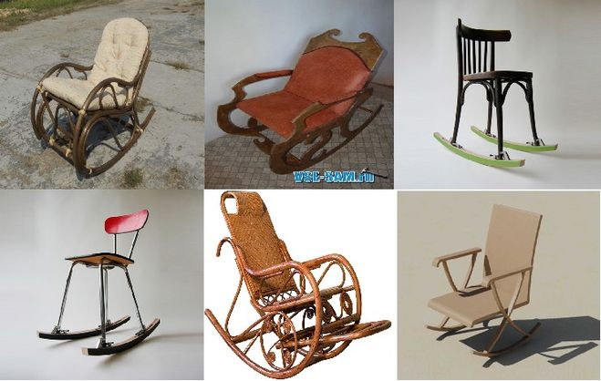 Кресло качалка своими руками из стула 185