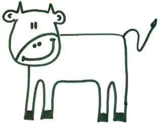как рисовать корову 4