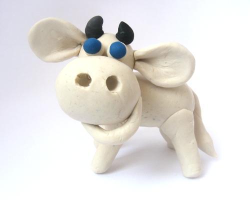 Корова  из пластилина