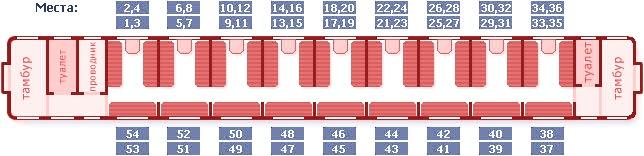 Плацкартный вагон расположение мест схема фото 464